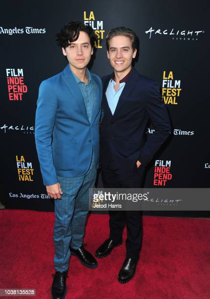 Cole Sprouse and Dylan Sprouse attend the screening of Banana Split during the 2018 LA Film Festival at ArcLight Culver City on September 22 2018 in...