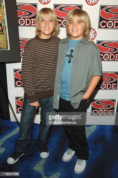 Cole Sprouse and Dylan Sprouse during Dylan and Cole Sprouse Celebrate The Launch of Sprouse Bros CODE Magazine at Planet Hollywood in New York City...