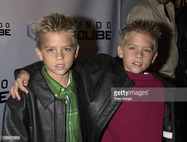 Cole Sprouse and Dylan Sprouse during Nintendo Gamecube Launch Party in New York city in New York City New York United States
