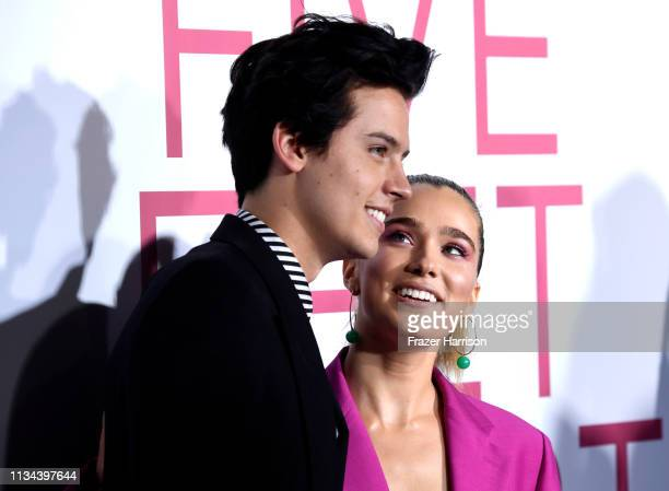 Cole Sprouse and Haley Lu Richardson attend the Premiere Of Lionsgate's Five Feet Apart at Fox Bruin Theatre on March 07 2019 in Los Angeles...
