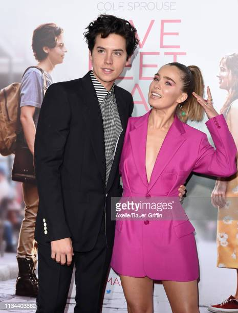 Cole Sprouse and Haley Lu Richardson attend the premiere of Lionsgate's 'Five Feet Apart' at Fox Bruin Theatre on March 07 2019 in Los Angeles...