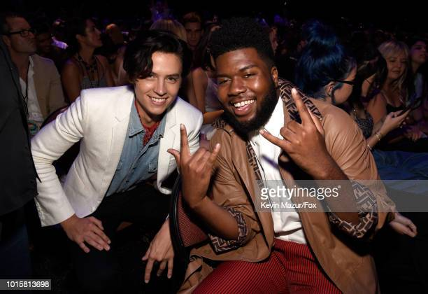 Cole Sprouse and Khalid attend FOX's Teen Choice Awards at The Forum on August 12 2018 in Inglewood California