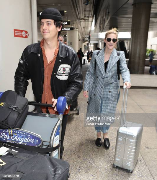 Cole Sprouse and Lili Reinhart are seen on April 4 2018 in Los Angeles CA