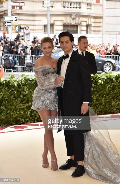Cole Sprouse and Lili Reinhart arrive for the 2018 Met Gala on May 7 at the Metropolitan Museum of Art in New York The Gala raises money for the...