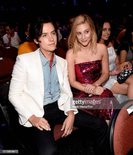 Cole Sprouse and Lili Reinhart attend FOX's Teen Choice Awards at The Forum on August 12 2018 in Inglewood California