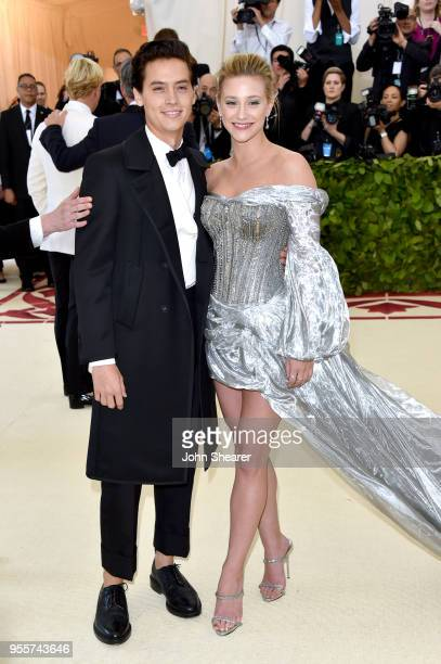 Cole Sprouse and Lili Reinhart attend the Heavenly Bodies Fashion The Catholic Imagination Costume Institute Gala at The Metropolitan Museum of Art...