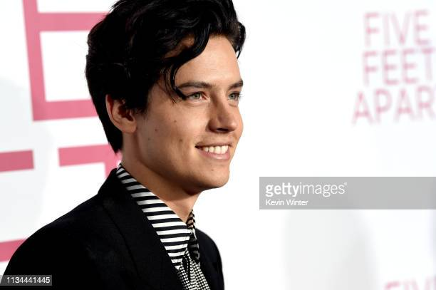 Cole Sprouse arrives at the premiere of CBS Films' Five Feet Apart at the Fox Bruin Theatre on March 07 2019 in Los Angeles California