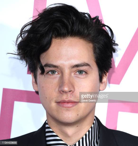 Cole Sprouse arrives at the Premiere of Lionsgate's Five Feet Apart at Fox Bruin Theatre on March 07 2019 in Los Angeles California
