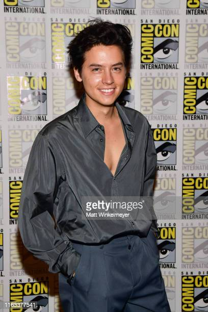 Cole Sprouse attends the 2019 ComicCon International Riverdale photo call at Hilton Bayfront on July 21 2019 in San Diego California