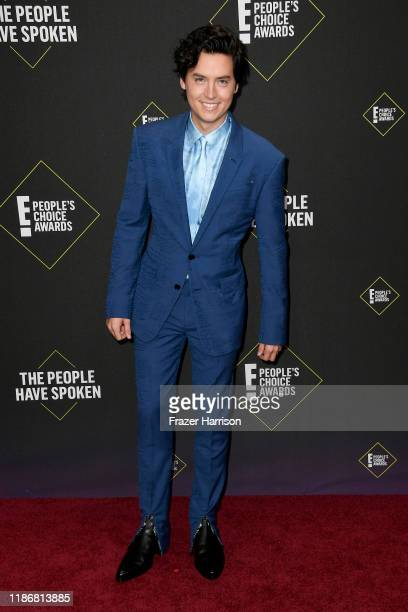 Cole Sprouse attends the 2019 E People's Choice Awards at Barker Hangar on November 10 2019 in Santa Monica California