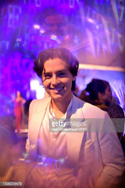Cole Sprouse attends the 2020 Vanity Fair Oscar Party hosted by Radhika Jones at Wallis Annenberg Center for the Performing Arts on February 09 2020...
