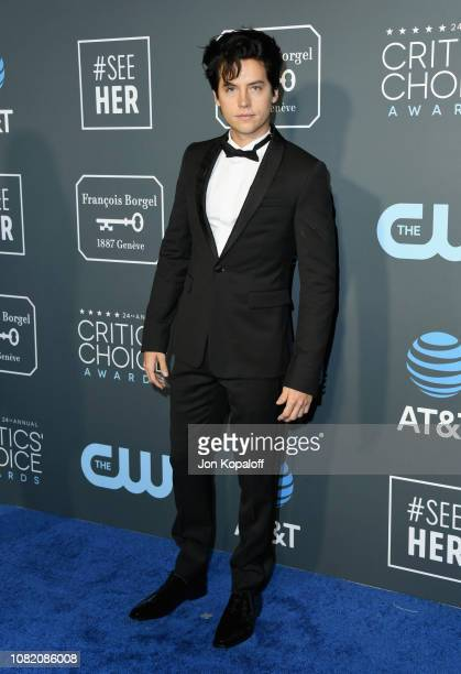 Cole Sprouse attends the 24th annual Critics' Choice Awards at Barker Hangar on January 13 2019 in Santa Monica California