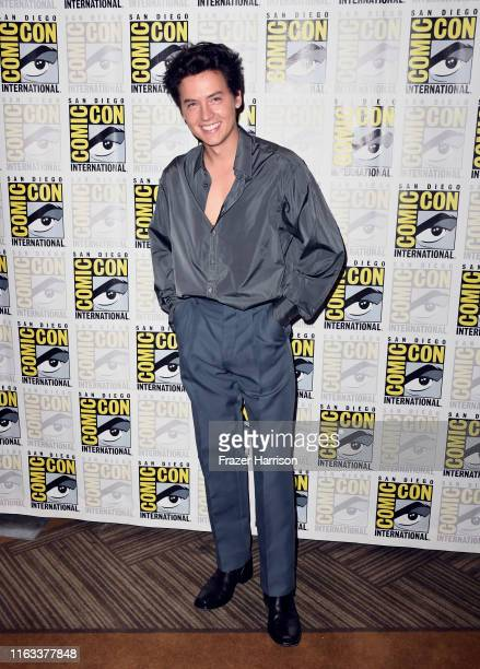 """Cole Sprouse attends the """"Riverdale"""" Photo Call during 2019 Comic-Con International at Hilton Bayfront on July 21, 2019 in San Diego, California."""