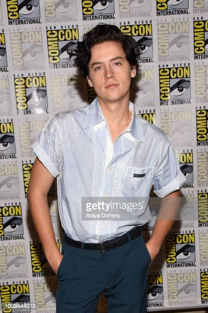 Cole Sprouse attends the 'Riverdale' Press Line during ComicCon International 2018 at Hilton Bayfront on July 21 2018 in San Diego California