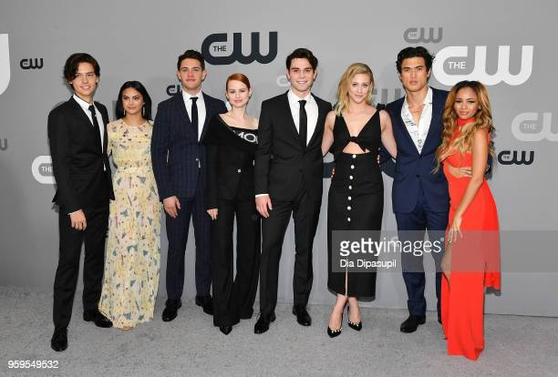 Cole Sprouse, Camila Mendes, Casey Cott, Madelaine Petsch, KJ Apa, Lili Reinhart, Charles Melton and Vanessa Morgan attend the 2018 CW Network...
