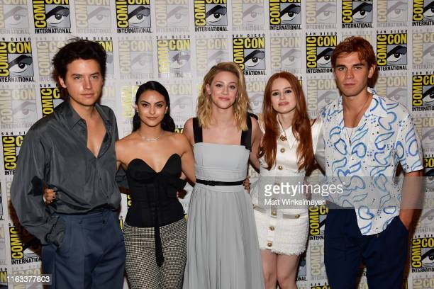 Cole Sprouse Camila Mendes Lili Reinhart Lili Reinhart and KJ Apa attend the 2019 ComicCon International Riverdale photo call at Hilton Bayfront on...