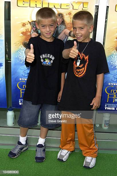 Cole Sprouse Dylan Sprouse during The Crocodile Hunter Collision Course Premiere at Arclight Cinerama Dome in Hollywood California United States