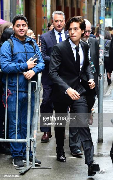 Cole Sprouse is seen walking in midtown on May 17 2018 in New York City