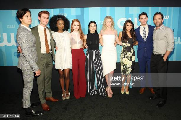 Cole Sprouse KJ Apa Ashleigh Murray Madelaine Petsch Camila Mendes Lili Reinhart Marisol Nichols Casey Cott and Luke Perry attend the 2017 CW Upfront...
