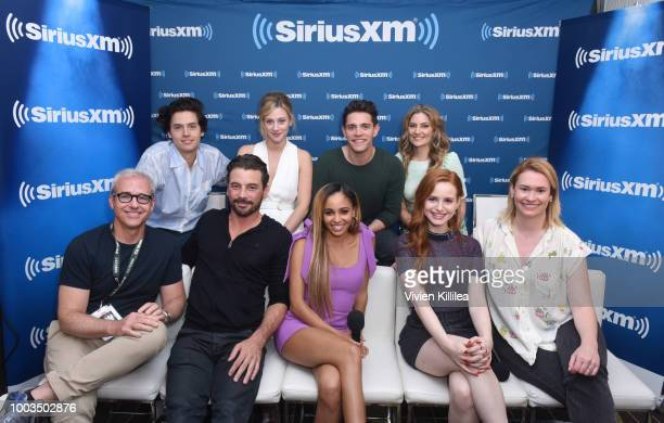 Cole Sprouse Lili Reinhart Casey Cott Madchen Amick Jess Cagle Skeet Ulrich Vanessa Morgan Madelaine Petsch and SiriusXM host Julia Cunningham attend...