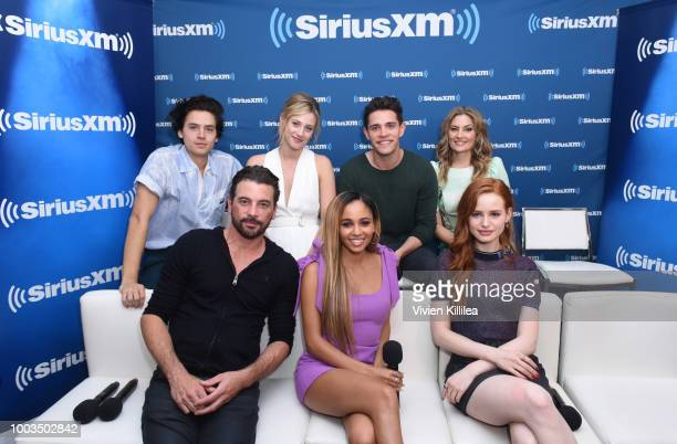 Cole Sprouse Lili Reinhart Casey Cott Madchen Amick Skeet Ulrich Vanessa Morgan and Madelaine Petsch attend SiriusXM's Entertainment Weekly Radio...