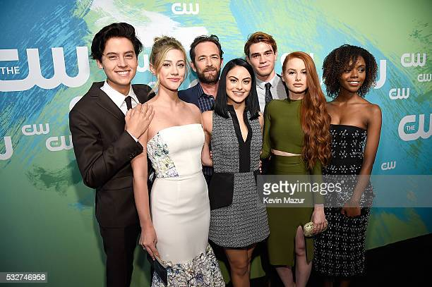 Cole Sprouse Lili Reinhart Luke Perry Camilla Mendes KJ Apa Madelaine Petsch and Ashleigh Murray attend The CW Network's 2016 Upfront at The London...