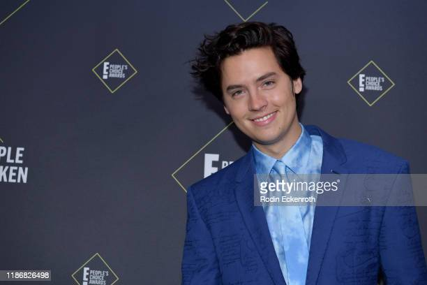 Cole Sprouse winner of The Male TV Star of 2019 poses in the press room during the 2019 E People's Choice Awards at Barker Hangar on November 10 2019...