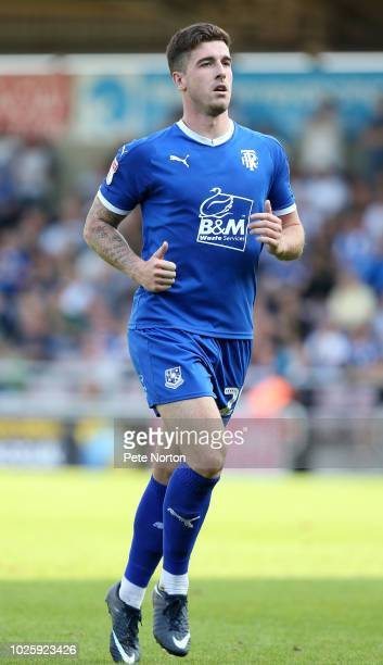Cole Stockton of Tranmere Rovers in action during the Sky Bet League Two match between Northampton Town and Tranmere Rovers at PTS Academy Stadium on...
