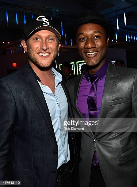 Cole Swindell and Aloe Blacc attend the 2015 CMT Music Awards After Party at the Hutton Hotel on June 10 2015 in Nashville Tennessee
