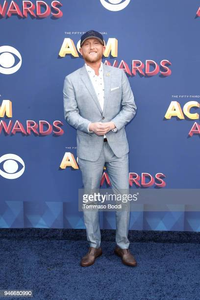 Cole Swindell attends the 53rd Academy of Country Music Awards at MGM Grand Garden Arena on April 15 2018 in Las Vegas Nevada