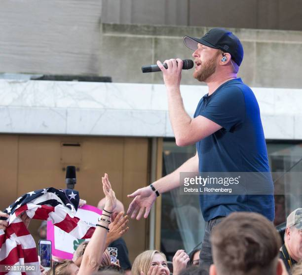 Today Show Anchor Al Roker and Cole Swindell on NBC's 'Today' Summer Concert Series at Rockefeller Plaza on August 17 2018 in New York City