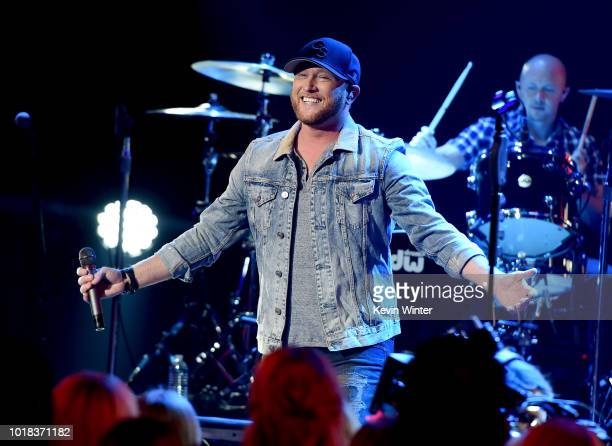 Cole Swindell performs onstage at the iHeartCountry Album Release Party at the iHeartRadio Theatre on August 7 2018 in Burbank California