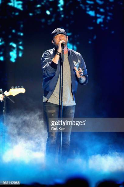 Cole Swindell performs onstage during the 2018 iHeartCountry Festival By ATT at The Frank Erwin Center on May 5 2018 in Austin Texas