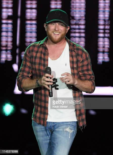 Cole Swindell performs onstage during the 2019 Stagecoach Festival at Empire Polo Field on April 26 2019 in Indio California