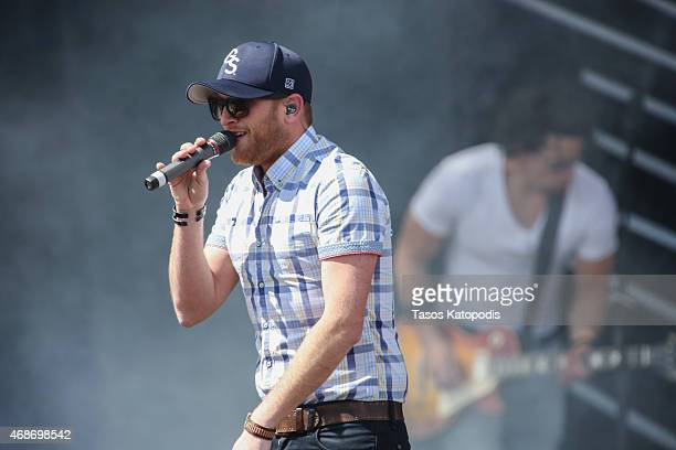 Cole Swindell performs onstage during the Capital One JamFest at the NCAA March Madness Music Festival Ð Day 3 at White River State Park on April 5...