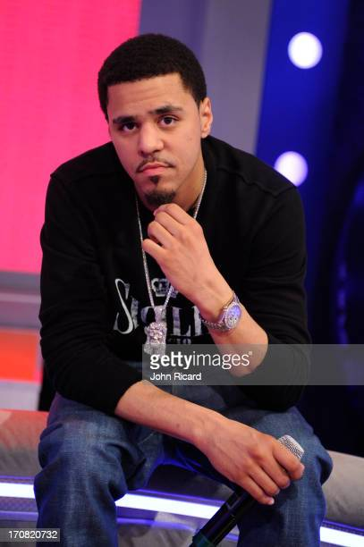J Cole visits BET's '106 Park' at BET Studios on June 17 2013 in New York City