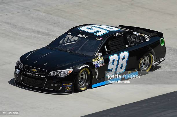Cole Whitt driver of the Chevrolet practices for the NASCAR Sprint Cup Series Food City 500 at Bristol Motor Speedway on April 14 2016 in Bristol...