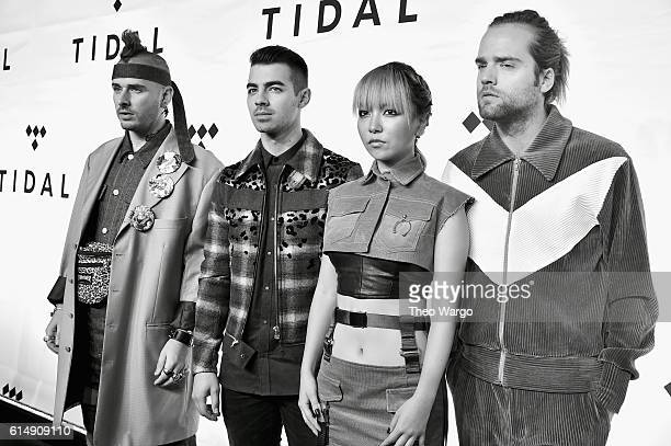 Cole Whittle Joe Jonas JinJoo Lee and Jack Lawless of DNCE attend TIDAL X 1015 on October 15 2016 in New York City