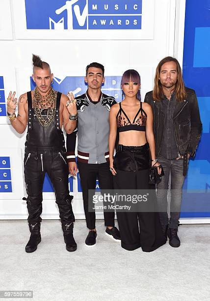 Cole Whittle Joe Jonas JinJoo Lee Jack Lawless of DNCE attend the 2016 MTV Video Music Awards at Madison Square Garden on August 28 2016 in New York...