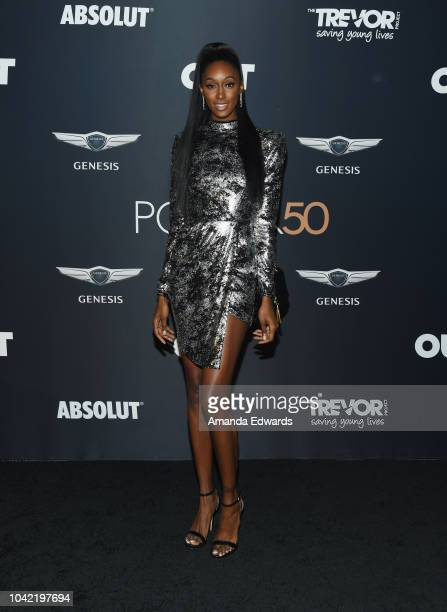 Cole Woods arrives at OUT Magazine's Annual Power 50 Celebration at NeueHouse Hollywood on September 27 2018 in Los Angeles California