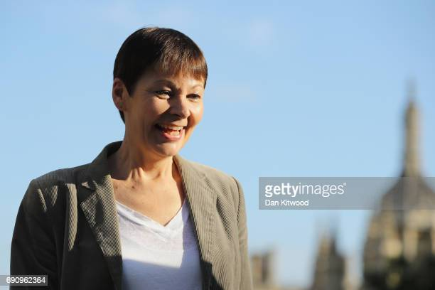 CoLeader of the Green Party Caroline Lucas arrives ahead of the BBC Leader's Debate on May 31 2017 in Cambridge England Six Leaders of the Seven...