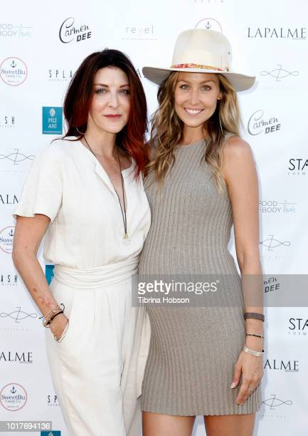 Coleen Janeway and Kathryn Boyd Brolin attends LaPalme Magazine and Hiptique's Indian Summer Soiree at Trancas Country Market on August 15 2018 in...