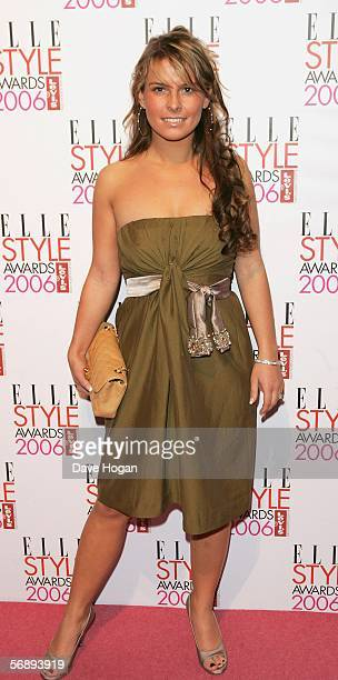 Coleen McLoughin fiancee of England striker Wayne Rooney arrives at the ELLE Style Awards 2006 the fashion magazine's annual awards celebrating style...