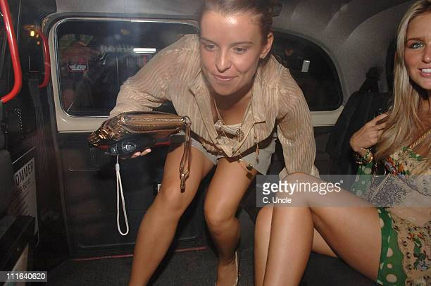 Coleen McLoughlin and Alex Curran during England Players Wives and Girlfriends Enjoy a Night Out at Restaurant and Local Bar June 29 2006 at Brenner...