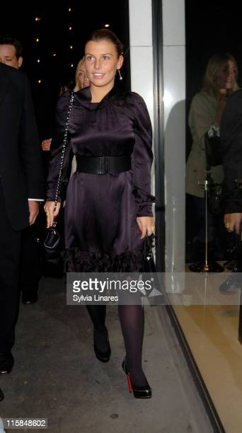 Coleen Mcloughlin attends the Vogue Covers Book Launch Party At The Chanel Boutique on October 17 2007 in London England