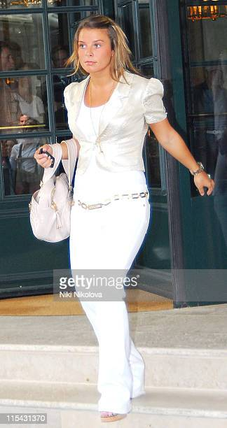 Coleen McLoughlin during England Football Players Wives and Girlfriends Depart to Cologne for England's Match Against Sweden 20 June 2006 in Baden...