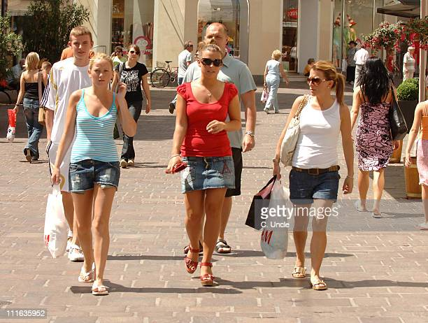 Coleen McLoughlin during England Football Players Wives and Girlfriends Sightings June 19 2006 in Baden Baden Germany
