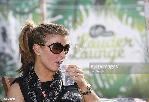 Coleen McLoughlin in the Virgin Mobile Louder Lounge at the V Festival