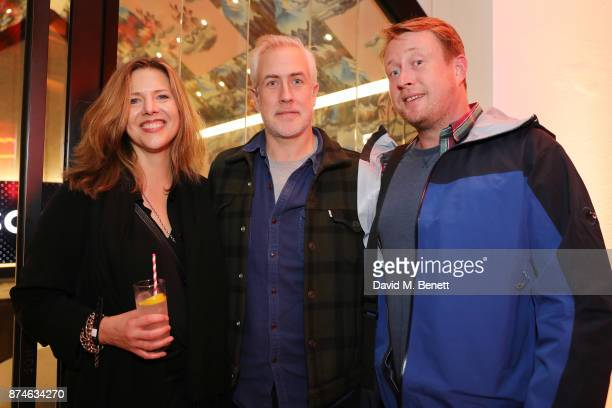 Coleen Murphy Matt Everett and Adam Dewhurstattends the launch of Sonos Song Stories Bowie an event honouring David Bowie's work and legacy at Sonos...