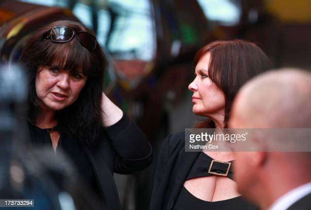 Coleen Nolan attends Bernie Nolan's funeral at Grand Theatre on July 17 2013 in Blackpool England